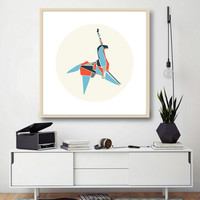 NEW! Geometrical Unicorn Poster, Minimal Poster.