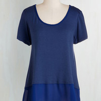 Minimal Mid-length Short Sleeves Signature Shimmy Top
