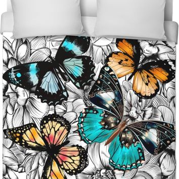 Black White Butterfly Duvet Cover
