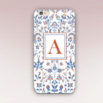 Monogram Floral Phone Case - iPhone 6 Case - iPhone 5 Case - iPhone 4 Case - Samsung S4 Case - iPhone 5C - Tough Case - Matte Case - Samsung