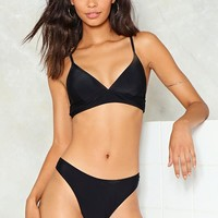 Seas the Day Triangle Bikini Top