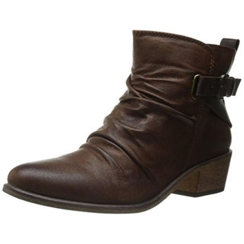 Baretraps Womens Pennie Faux Leather Slouchy Ankle Boots