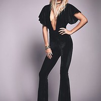 Sugarhigh + Lovestoned Womens Penny Velvet Catsuit