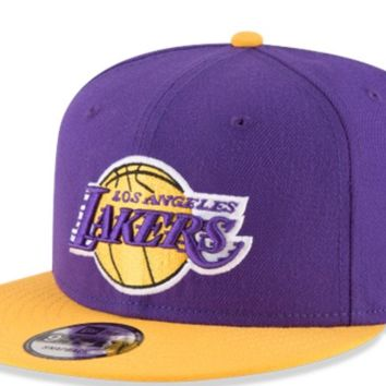 Men's Los Angeles Lakers New Era Royal 2Tone 9FIFTY Hat