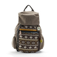 Canvas Backpack with Snow Flake and Heart