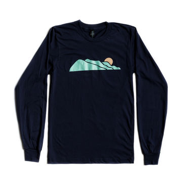 Long Sleeve Logo Tee - Navy
