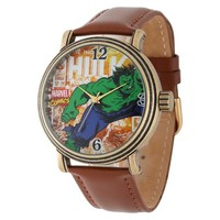 Men's Marvel Hulk Vintage Antique with Alloy Case - Brown/Gold