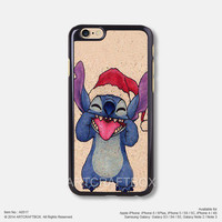 Christmas Stitch iPhone Case Black Hard case 517