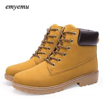 big size PU leather men boots autumn and winter man shoes ankle boot men's snow shoe m
