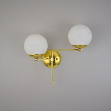 Modernist Globe Wall Sconce