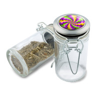 Glass Jar - Shocker Spin Illusion - 75ml Herb and Spice Storage Container