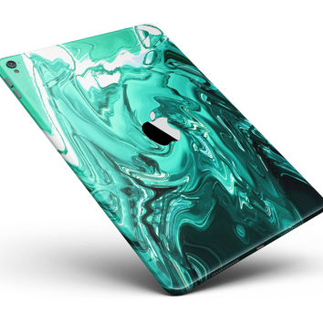 """Bright Trendy Green Color Swirled Full Body Skin for the iPad Pro (12.9"""" or 9.7"""" available)"""