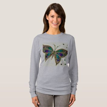 Long Sleeve Purple Butterfly Shirt