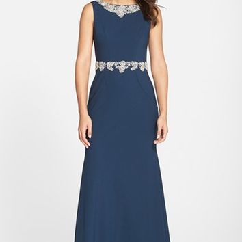 Women's JS Collections Embellished Gown,