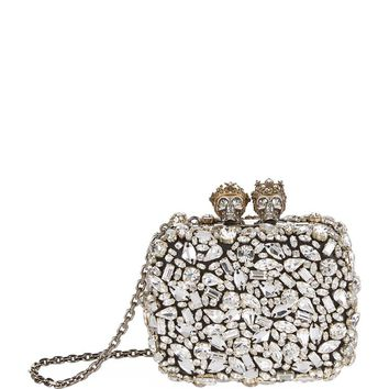 Alexander McQueen Mini Queen & King Embellished Clutch | Harrods.com