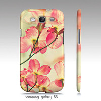 """iphone 4,4s, 5, Samsung Galaxy S3 case-""""Morning Light"""" spring floral photography"""