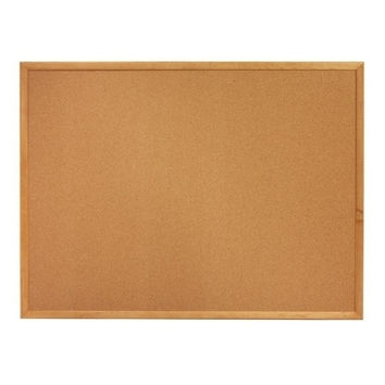 "Quartet Cork Board, 1"" Face Frame, 2'x1-1/2', Oak Frame"