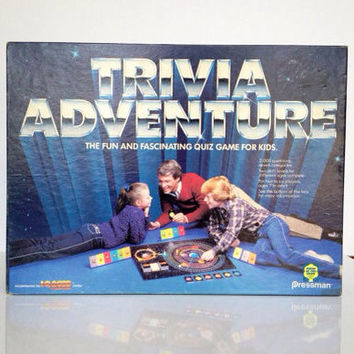 Vintage Trivia Adventure Board Game 1983