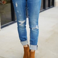 DEX Madison Distressed Skinny Jean