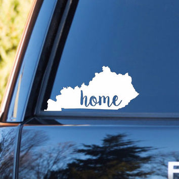 Kentucky Home Decal | Kentucky State Decal | Homestate Decals | Love Sticker | Love Decal  | Car Decal | Car Stickers | Bumper | 109
