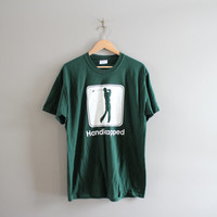 Handicapeped T-shirt / Golf / Funny Graphic Tee / Hipster / Grunge / Minimalist / T-shirt / Green Tee / Vintage / Size M - L
