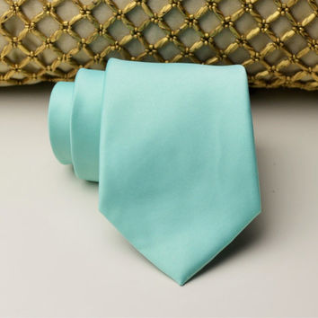 Pastel Mint Necktie. Groomsmen Neckties. Wedding Neckties. Mens Necktie. Patel Mint Wedding. Pastel MInt Groomsmen. Groomsmen Tie. Wedding.