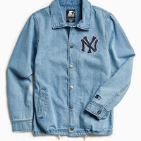 Starter X UO New York Denim Coaches Jacket - Urban Outfitters