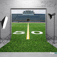Football Field & Grass - Photography Backdrop