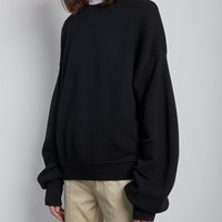 Pleated Sleeve Sweatshirt by R13- La Garçonne