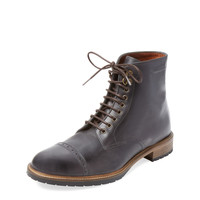 McCarren & Sons Men's Cap Toe Boot - Grey - Size 10