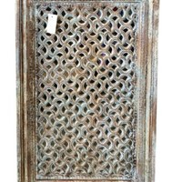 Vintage Haveli Window Jharokha Rustic Teak India Furniture Hand Carved Architectural: Amazon.com: Home & Garden