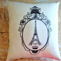 Eiffel Tower Pillow, French Country.. on Luulla