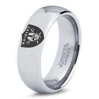 Oakland Raiders Ring Mens Fanatic NFL Sports Football Boys Girls Womens NFL Jewelry Fathers Day Gift Tungsten Carbide 175