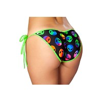 Roma Rave SH3311 - Printed Tie Side Pucker Back Bikini Bottom