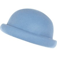 Light blue rolled brim bowler hat - hats - accessories - women