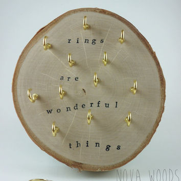 Wood Slice, Jewelry Storage, Ring Holder, Birch Tree, Jewelry Display, Wooden Display