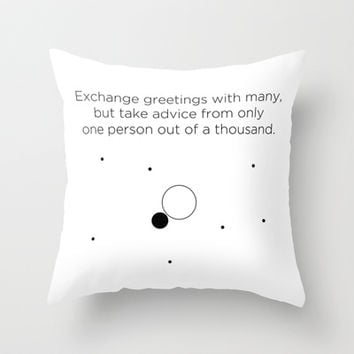 Friendship Throw Pillow by Declaration