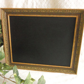Ornate, Large Framed Chalkboard. Big Framed chalk board, kitchen menu board, restaurant, upcylcled chalkboard , picture frame