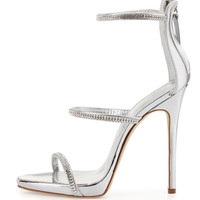 Giuseppe Zanotti Jeweled Three-Strap 110mm Sandal
