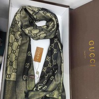 GUCCI Fashion New Autumn And Winter Women Men More Letter Keep Warm Tassel Scarf