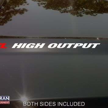 4.7L HIGH OUTPUT Hood Vinyl Decals Sticker Fit Jeep Cherokee Dodge Ram Powertech
