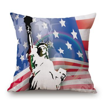 2017 Square Flag Style decorative throw pillow pillowcase for the pillow 45*45 cojines