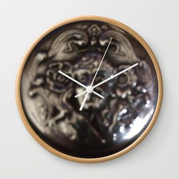 Silver pendant Wall Clock by Jessica Ivy