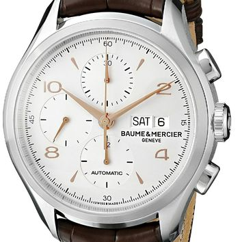 Baume and Mercier Clifton Leather Automatic Watch MOA10129
