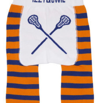 Orange and Blue Lacrosse Baby Boys Legging, Izzy & Owie