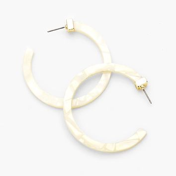 Lei Resin Hoop Earrings