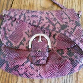 NWT Coach 45648 Soho Embossed Exotic Python Flap Crossbody