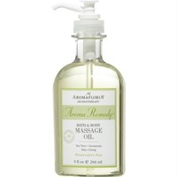 Aromafloria Bath & Body Massage Oil 9 Oz Blend Of Tea Tree Geranium And May Chang (preservative Free) By Aromafloria