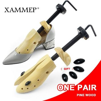 Shoe Tree 1 Pair Wooden Shoe Stretcher For Men and Women Genuine leather Shoes Expander shoes Width and height Adjustable Xammep