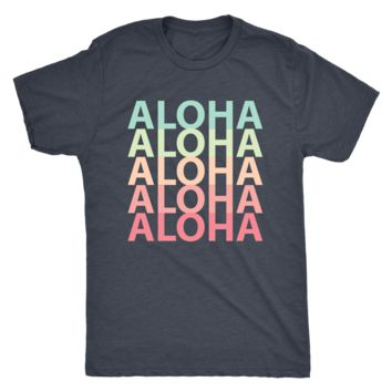 Mens Rainbow Aloha Logo T-Shirt